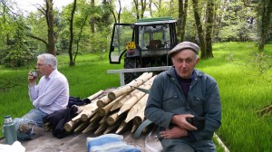 Llanbrynmair shoot - workers at rest