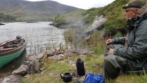 Tea-break on Lough Currane